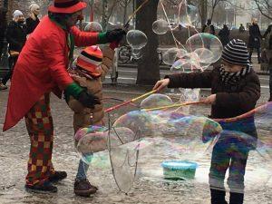 Berlyne su vaikais